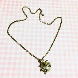 Adorable Vintage Ladybug Necklace 🐞